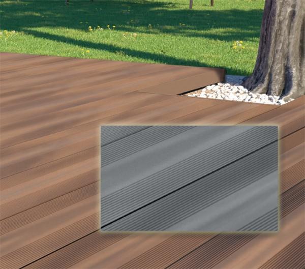 MegaWood WPC Terrassendiele l Barfußdiele Varia l Grau
