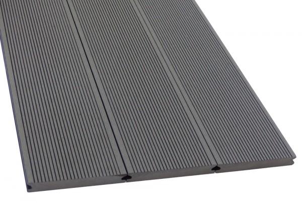 WPC Terrassendiele Komplettbausatz Massiv Silver Cedar, 5000 mm
