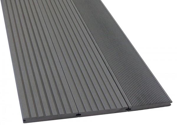 BPC/WPC Terrassendiele Komplettbausatz Pro Solid Silver Cedar, 2900 mm