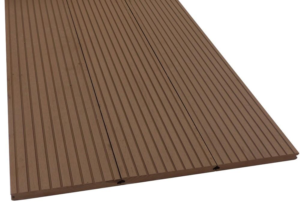 Wpc Solid Wide Breitprofil Terrassendiele Mahagoni Komplettbausatz