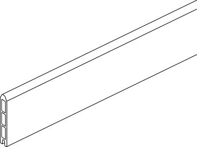 Abschlusslamelle (ohne Zubehör)