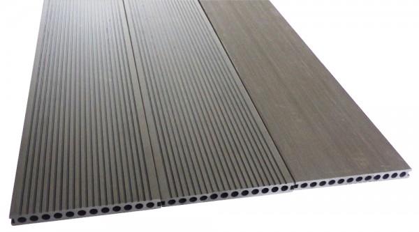 BPC/WPC Terrassendiele Komplettbausatz Master Premium Silver Cedar, 4000 mm