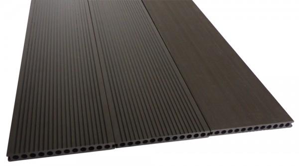 BPC/WPC Terrassendiele Komplettbausatz Master Premium Ebony, 4000 mm