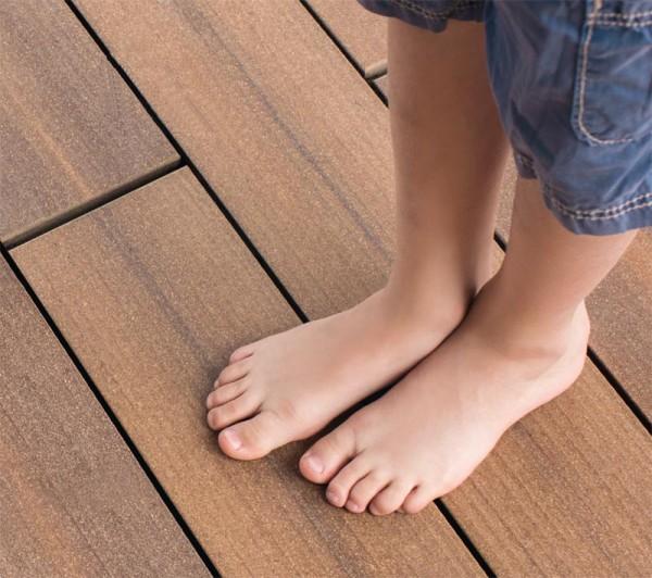 MegaWood WPC Terrassendiele l Barfußdiele Signum l Muskat