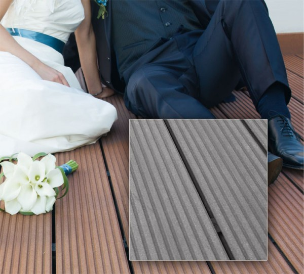 MegaWood WPC Terrassendiele l Barfußdiele Classic l Basaltgrau