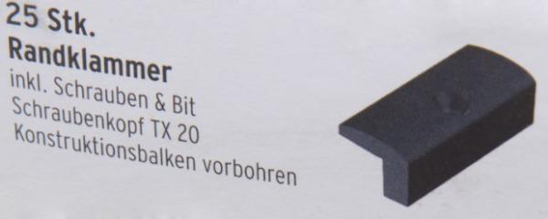 MegaWood Randklammer Schwarz - 25 Stk.