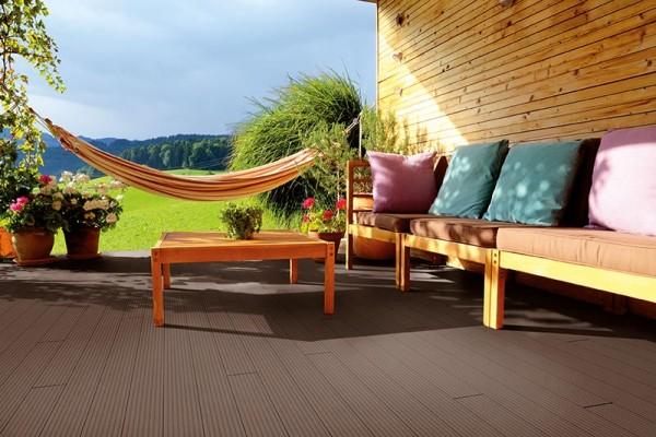 BPC/WPC Terrassendiele Komplettbausatz Pro Innovation Mahagoni, 2900 mm
