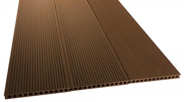 BPC/WPC Terrassendiele Komplettbausatz Master Premium Mahagoni, 4000 mm