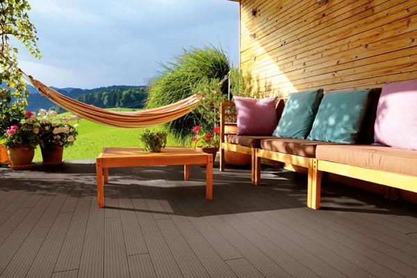 BPC/WPC Terrassendiele Komplettbausatz Pro Solid Mahagoni, 2900 mm