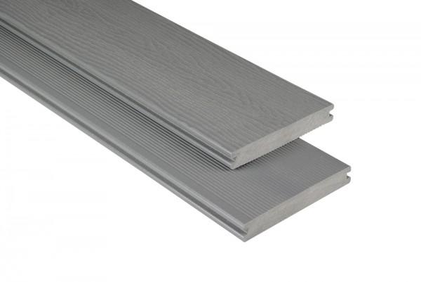 Kovalex WPC Terrassendiele mit Struktur - Grau
