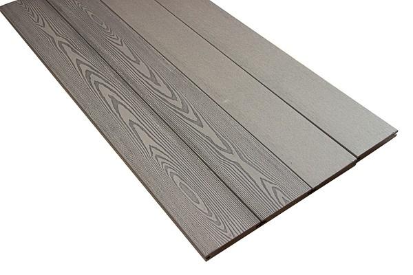 BPC / WPC Terrassendiele | Massiv Profil Bright Silver Cedar | Massivdiele