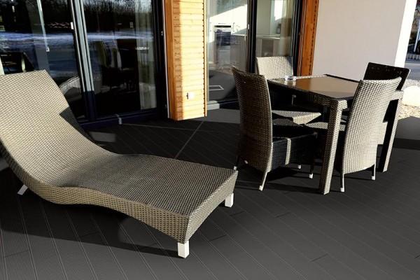 WPC Terrassendiele Komplettbausatz Topline 3900 mm Ebony
